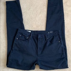 High Rise Skinny Dark Blue Pants
